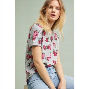 Coming Soon! Anthro Maeve Red Strawberry Field Tee